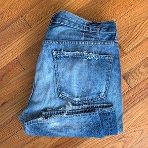 Citizens Of Humanity Destroyed Blue Collar Jeans
